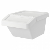 СОРТЕРА Бак мусорный, белый, 37 л