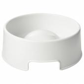 ЛУРВИГ Миска для медленного поедания корма, белый, 1.2 л