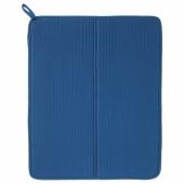 НЮХОЛИД Коврик для сушки посуды, синий, 44x36 см