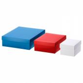 ВИНТЕР 2019 Коробка подарочная,3 штуки, белый красный, синий