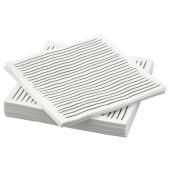ИНБИТЕН Салфетка бумажная, белый, в полоску, 33x33 см