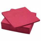 ФАНТАСТИСК Салфетка бумажная, темно-красный, 40x40 см
