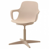 ОДГЕР Рабочий стул, белый, бежевый