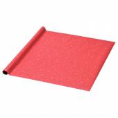 ВИНТЕР 2019 Рулон оберточной бумаги, точечный, красный, 3x0.7 м