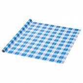ВИНТЕР 2019 Рулон оберточной бумаги, синий, клетчатый орнамент, 3x0.7 м
