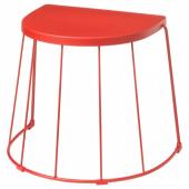 ТРАНАРЁ Табурет/приставной стол,д/дома/сада, красный, 56x41x43 см