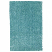 ЛАНГСТЕД Ковер, короткий ворс, бирюзовый, 170x240 см
