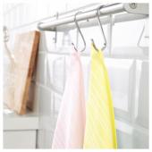 ТИМВИСАРЕ Полотенце кухонное,желтый,светло-розовый