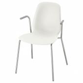ЛЕЙФ-АРНЕ Легкое кресло, белый, Дитмар хромированный