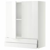 МЕТОД / МАКСИМЕРА Навесной шкаф/2дверцы/2ящика, белый, Рингульт белый, 80x100 см
