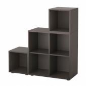 ЭКЕТ Комбинация шкафов с ножками, темно-серый, 105x35x107 см