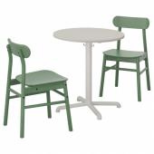 СТЕНСЕЛЕ / РЁННИНГЕ Стол и 2 стула, светло-серый, светло-серый зеленый, 70 см