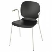 СВЕН-БЕРТИЛЬ Легкое кресло, черный, Дитмар белый