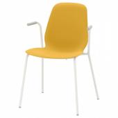 ЛЕЙФ-АРНЕ Легкое кресло, темно-желтый, Дитмар белый