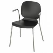 СВЕН-БЕРТИЛЬ Легкое кресло, черный, Дитмар хромированный