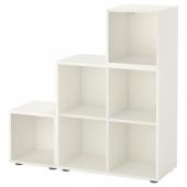 ЭКЕТ Комбинация шкафов с ножками, белый, 105x35x107 см