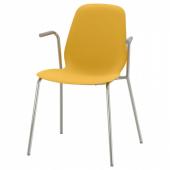 ЛЕЙФ-АРНЕ Легкое кресло, темно-желтый, Дитмар хромированный